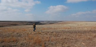 burnt pastures in Kansas