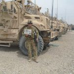 Maj. Mark Stepuk in Afghanistan with his Farm and Dairy newspaper
