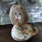 Kym Seabolt's cat craft made out of rocks