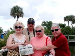 Sharon and Jim Genis, of Clinton, Ohio, and Jeneen and Paul Kubala, of Edinburg, Ohio, have been friends since the early 1970s. This year, both couples celebrated their 50th wedding anniversaries by vacationing together in Cocoa Beach, Florida, in May. We're so glad they took us along!
