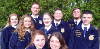 west virignia ffa state officers group photo