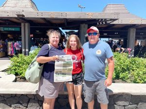 Jeff, Tracy and Jesse Vitek of Rayland, Ohio, took us to the Big Island of Hawaii. We spent a week exploring the island and enjoying the beach.