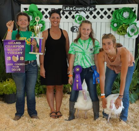 2019 Lake County Fair Grand Champion Market Turkey/Reserve Champion Poultry Project