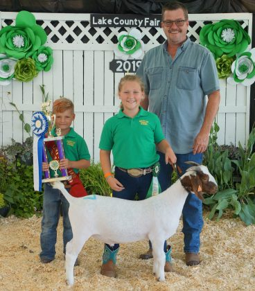2019 Lake County Fair Reserve Champion Goat Project