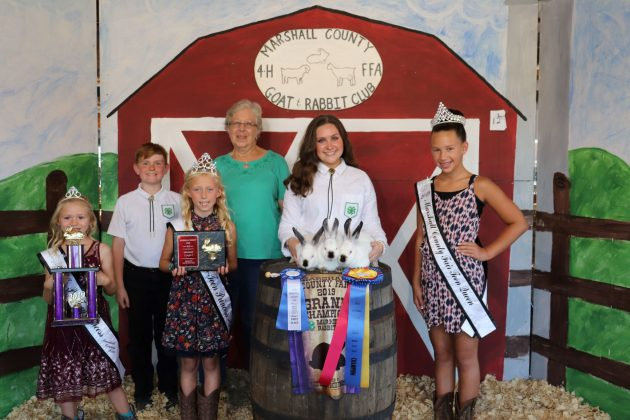 Marshall County 4-H and FFA Goat and Rabbit Club Sale Grand Champion Rabbits