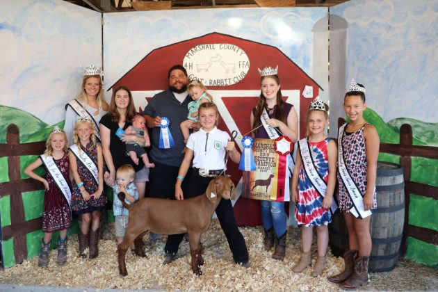 Marshall County 4-H and FFA Goat and Rabbit Club Sale Reserve Champion Goat