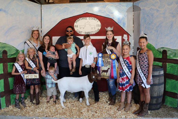 Marshall County 4-H and FFA Goat and Rabbit Club Sale Grand Champion Goat