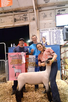 2019 Carroll County Fair Sale Reserve Champion Lamb