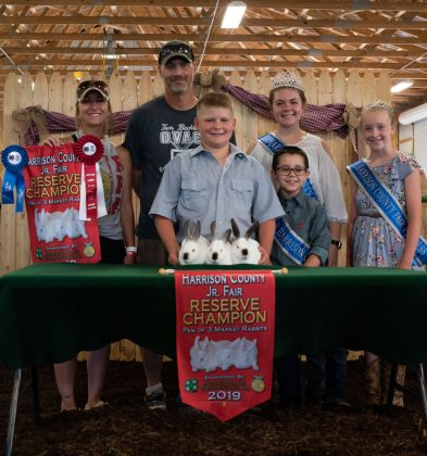 Brodie Yeager's reserve champion rabbit sold to Border Patrol and D&E Electric for $1,350.