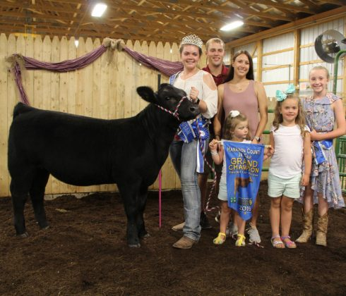Joyce Barr's grand champion beef feeder calf heifer sold to Randall Gallagher Memorials, Inc. for $3.75 per pound.