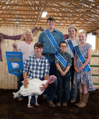 Bryan Blazeski's grand champion market turkey sold to Bruce Oszust Excavating for $1,150.