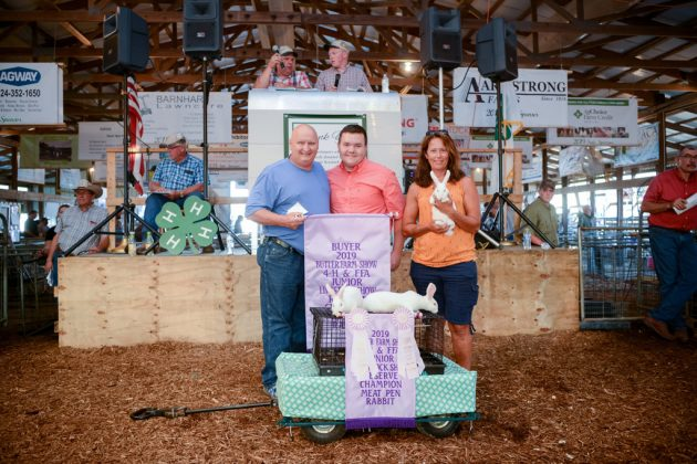 Butler County Fair Reserve Champion Rabbits