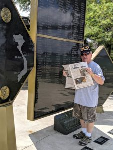 Ray Keene, a Vietnam veteran and Farm and Dairy newsstand delivery driver, took us with him to the Canadian Vietnam Memorial, or the North Wall, in Windsor, Ontario, on the Detroit River.