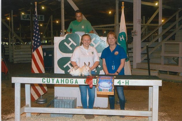 Cuyahoga County Fair Reserve Champion Pen of 2 Rabbits