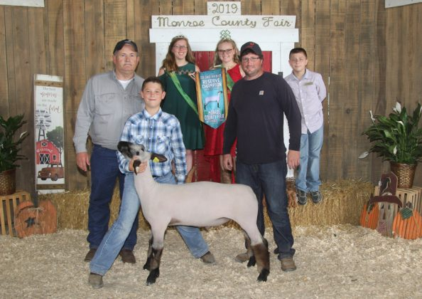 Monroe County Fair Reserve Champion Lamb
