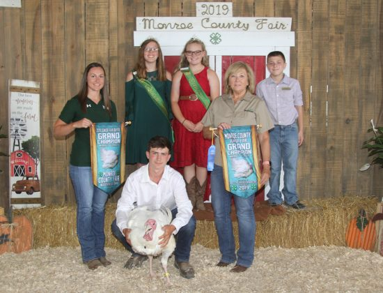 Monroe County Fair Reserve Champion Turkey