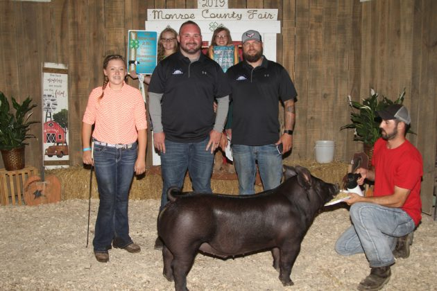 Monroe County Fair Grand Champion Hog