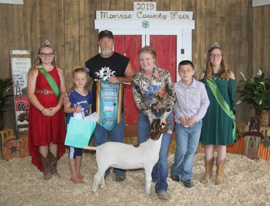 Monroe County Fair Grand Champion Goat
