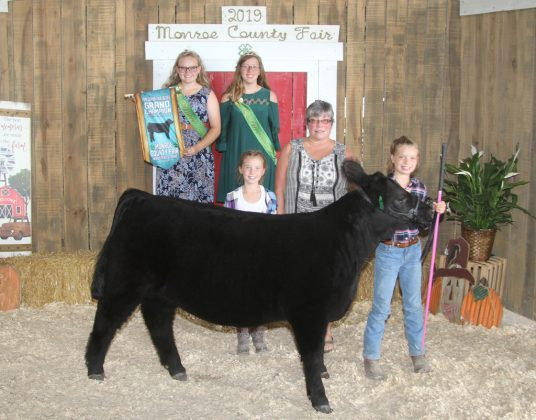 Monroe County Fair Grand Champion Feeder Calf Heifer