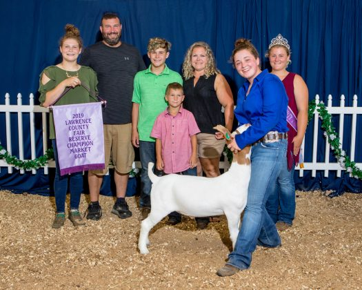Lawrence County Fair Reserve Champion Goat