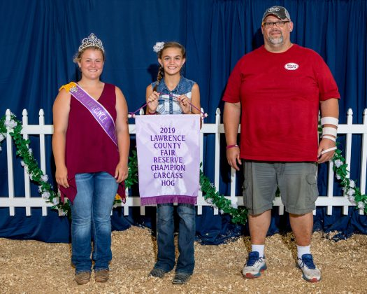 Lawrence County Fair Reserve Champion Carcass Hog