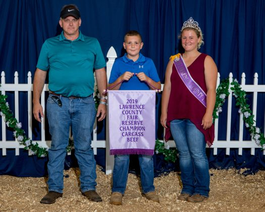 Lawrence County Fair Reserve Champion Carcass Beef