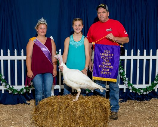 Lawrence County Fair Grand Champion Turkey