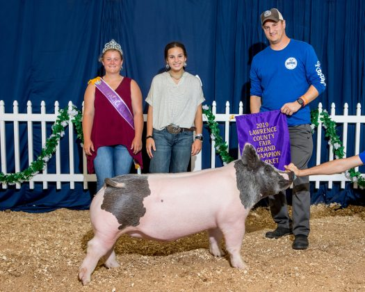 Lawrence County Fair Grand Champion Hog