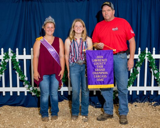 Lawrence County Fair Grand Champion Carcass Goat