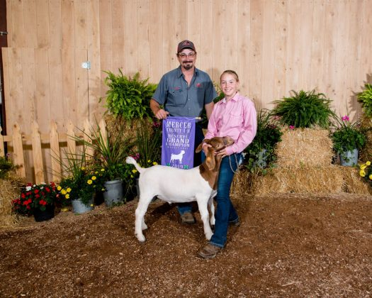 Mercer County Fair Reserve Champion Goat