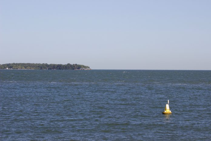 A buoy on Lake Erie.