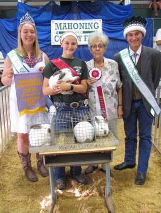 Canfield Fair Grand Champion Rabbit Meat pen