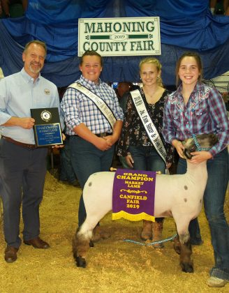 Canfield Fair Grand Champion Lamb
