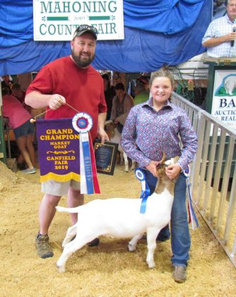 Canfield Fair Grand Champion Goat