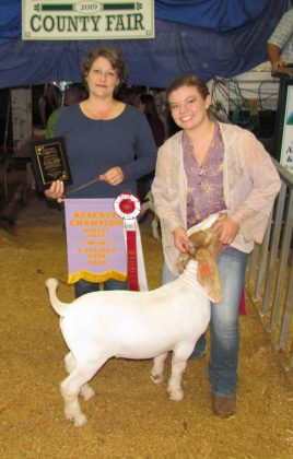 Canfield Fair Reserve Champion Market Goat