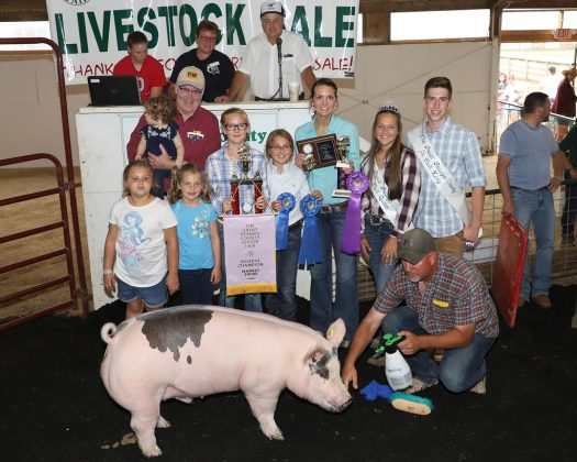 Geauga County Fair Reserve Champion Hog