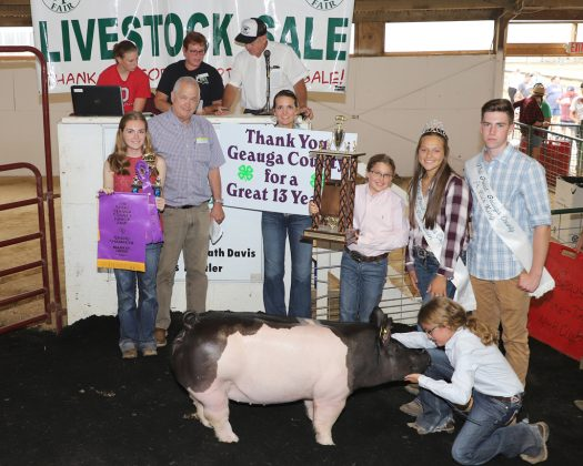 Geauga County Fair Grand Champion Hog
