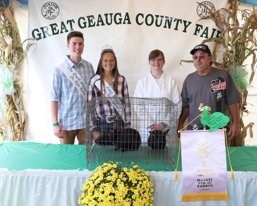 Geauga County Fair Reserves Champion Pen of Rabbits