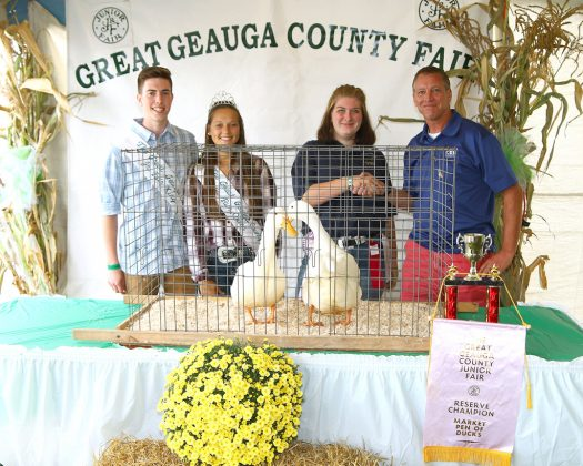 Geauga County Fair Reserve Champion Pen of Ducks