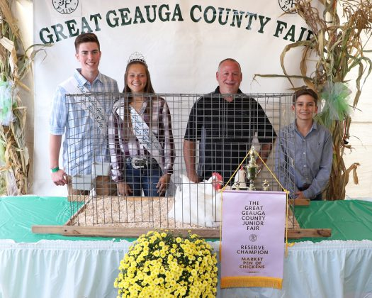 Geauga County Fair Reserve Champion Pen of Chickens