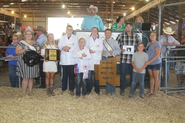 Noble County Fair Reserve Champion Rabbits