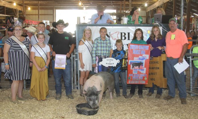 Noble County Fair Reserve Champion Hog