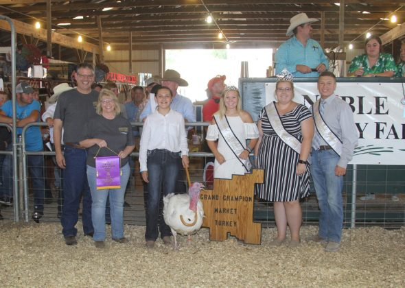Noble County Fair Grand Champion Turkey