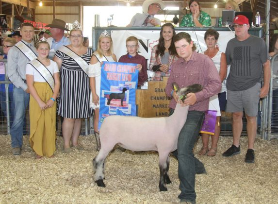 Noble County Fair grand Champion Lamb