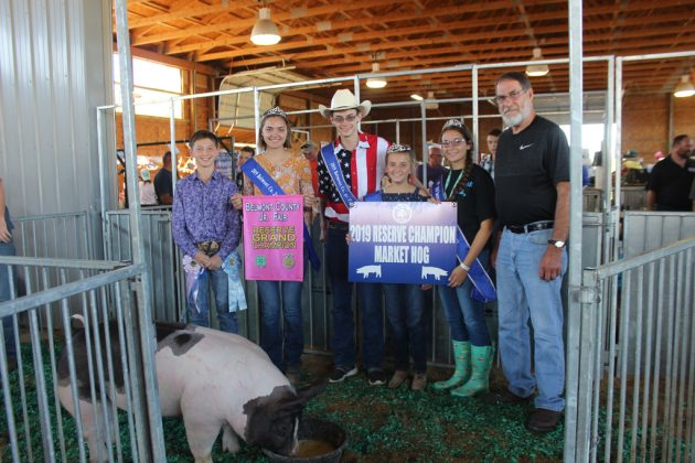 Belmont County Fair Reserve Champion Hog