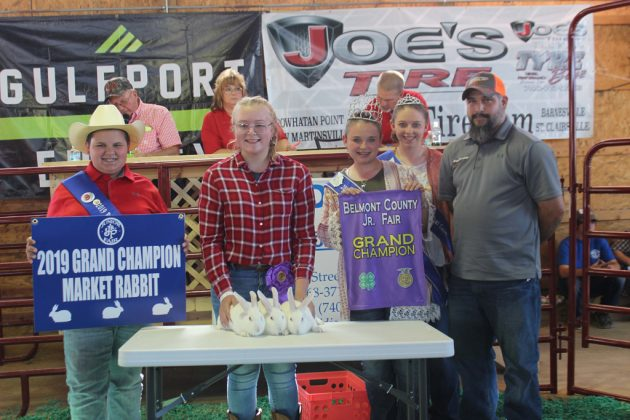 Belmont County Fair Grand Champion Rabbits