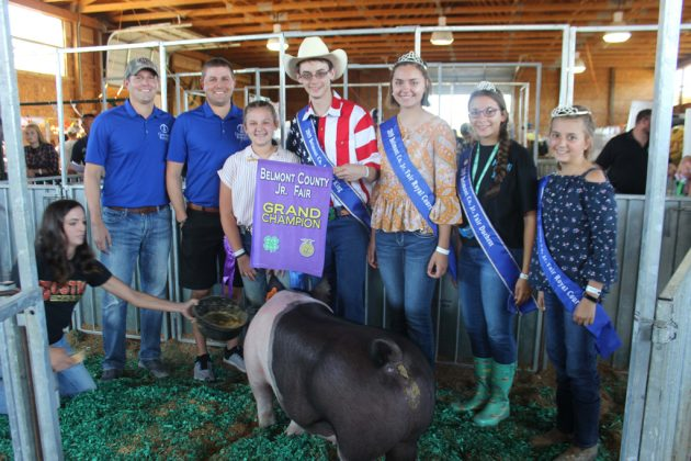 Belmont County Fair Grand Champion Hog