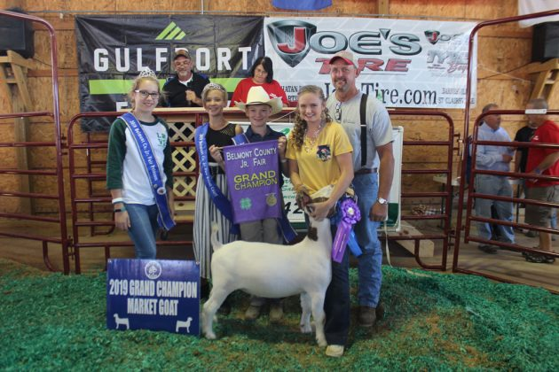 Belmont County Fair Grand Champion Goat