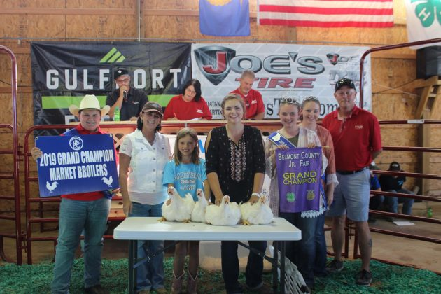 Belmont County Fair Grand Champion Chickens