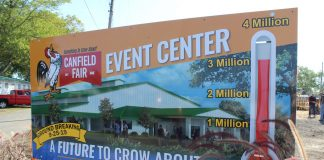 canfield fair event center sign